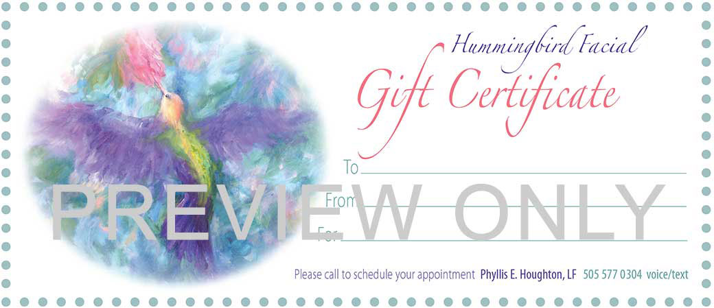 Ask us about Gift Certificates. We will prepare one and make it ready to give to your loved one.
